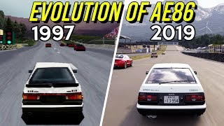 Evolution of AE86 in Gran Turismo