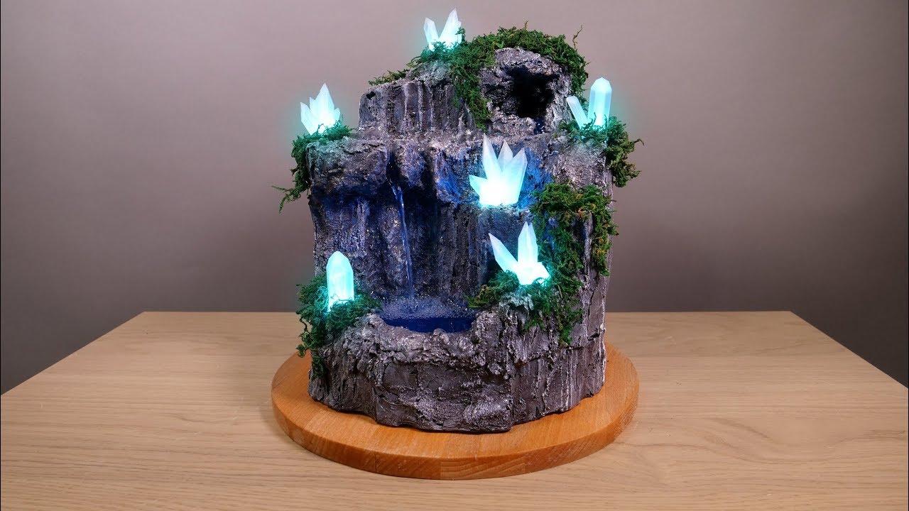 Diy Desktop Fountain With Enchanting Led Crystals