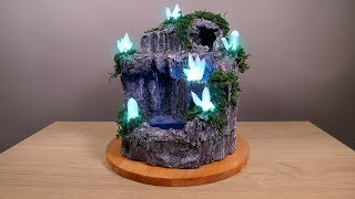 DIY Desktop Fountain with Enchanting LED Crystals