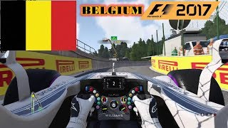 F1 2017 - Belgium Track #12 - Cockpit view - Williams