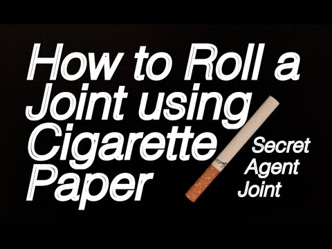 How to roll a Joint using Cigarette Paper - Secret Agent Joint: Beginners Tutorial