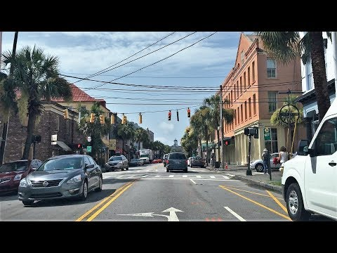 Driving Downtown - Charleston South Carolina USA