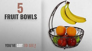 Best Fruit Bowls [2018]: SimpleHouseware Fruit Basket Bowl with Banana Tree Hanger, Bronze