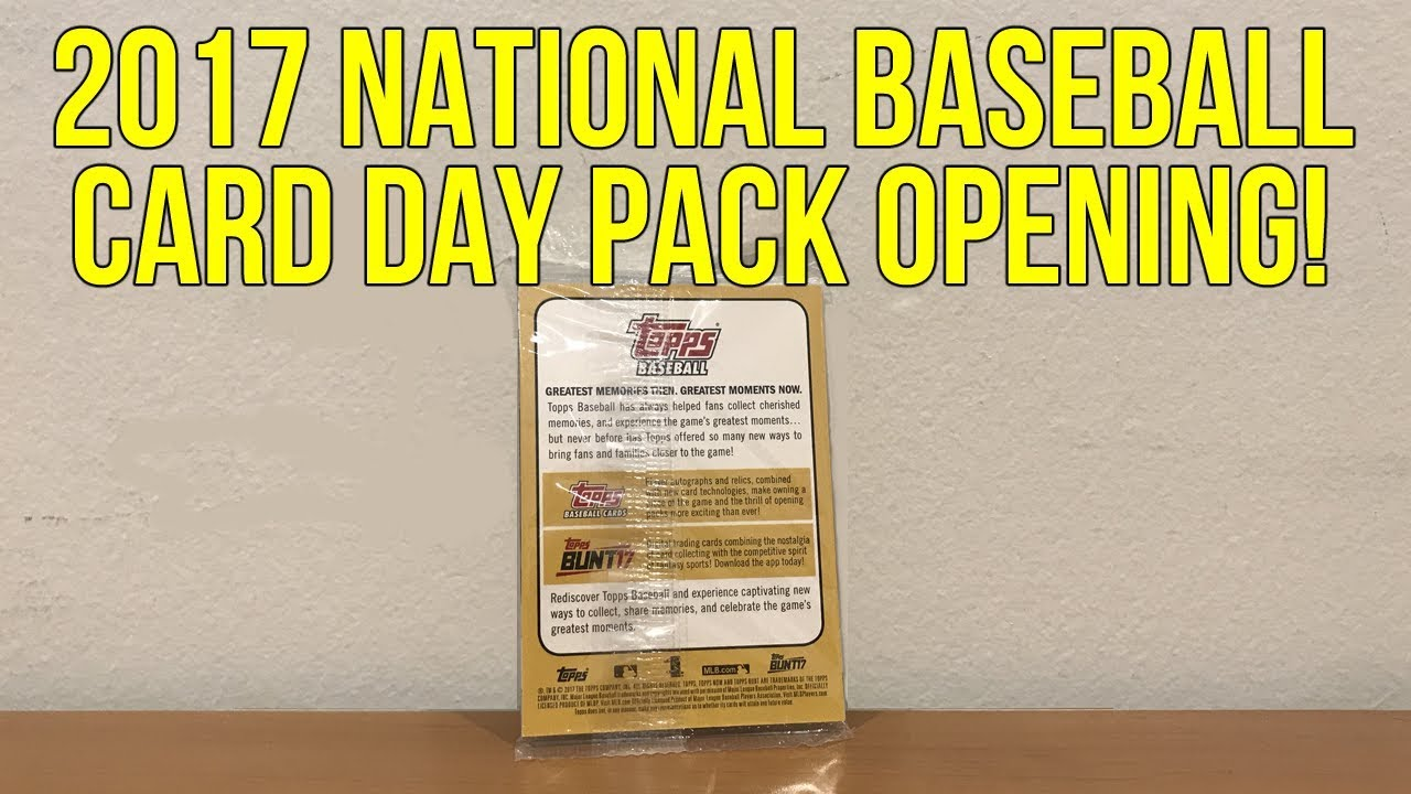 2017 Topps National Baseball Card Day 1 Pack Break