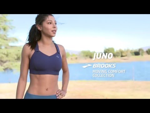 good out x factory authentic authorized site Brooks Moving Comfort Collection | Juno Sports Bra - YouTube
