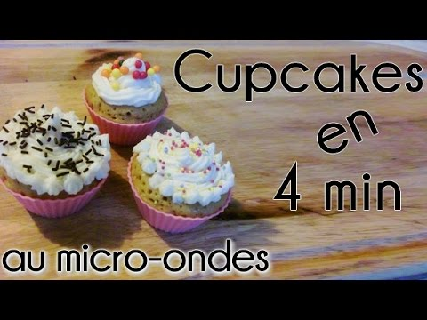 cupcakes en 4 min cuisson micro ondes cuisine youtube. Black Bedroom Furniture Sets. Home Design Ideas