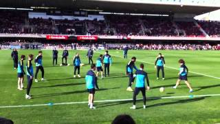 FC Barcelona rondo show tiki taka in training