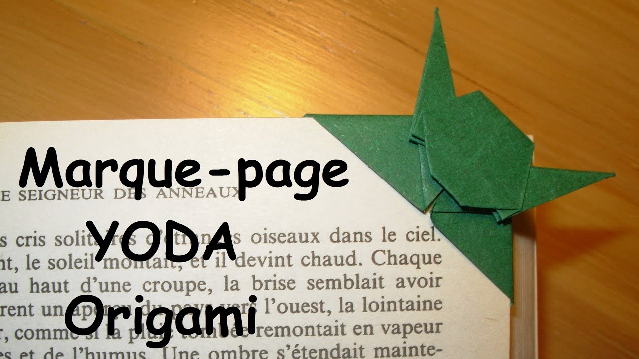 comment faire un marque page yoda en origami youtube. Black Bedroom Furniture Sets. Home Design Ideas