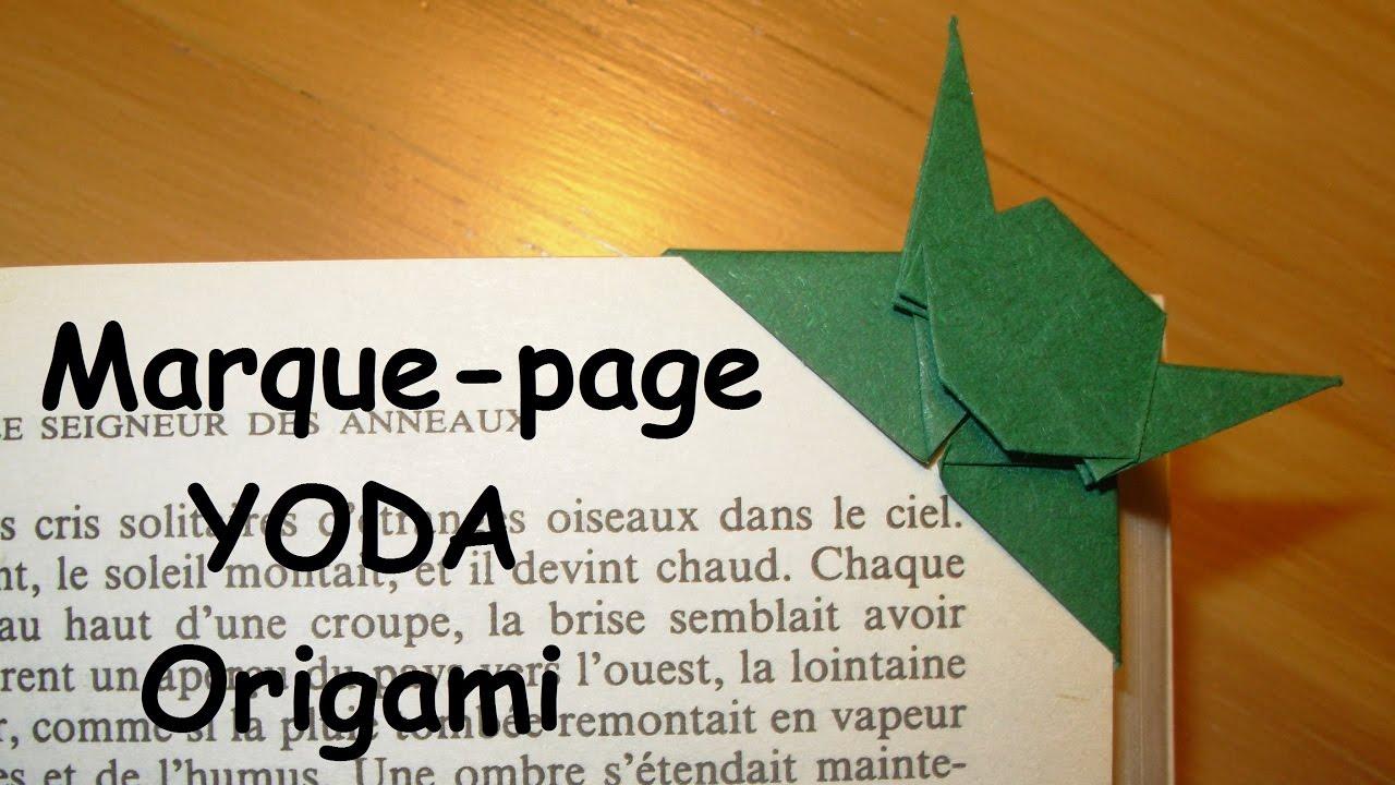 Comment faire un marque page yoda en origami youtube - Comment faire un marque page ...