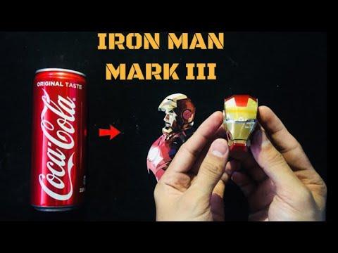 Iron Man Mark III Helmet Using Soda Can