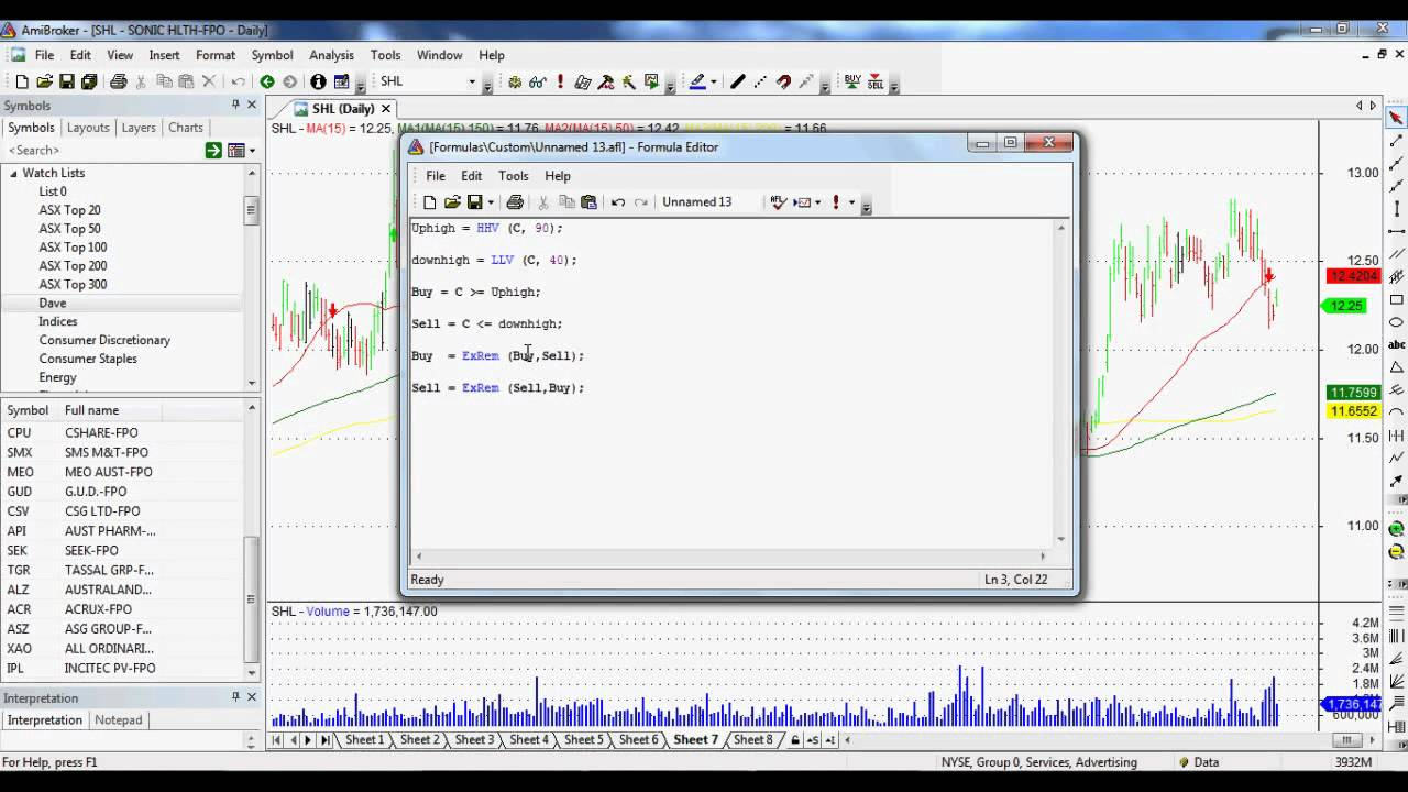 Let's Learn Amibroker: How To Scan For Buy And Sell Signals Using Amibroker  and AFL