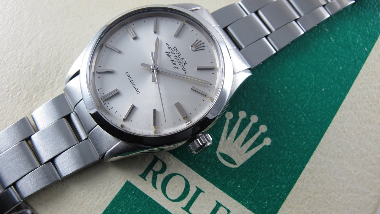 3cdd451597cf6 Steel Rolex Oyster Perpetual Air-King Precision Ref. 5500 vintage ...