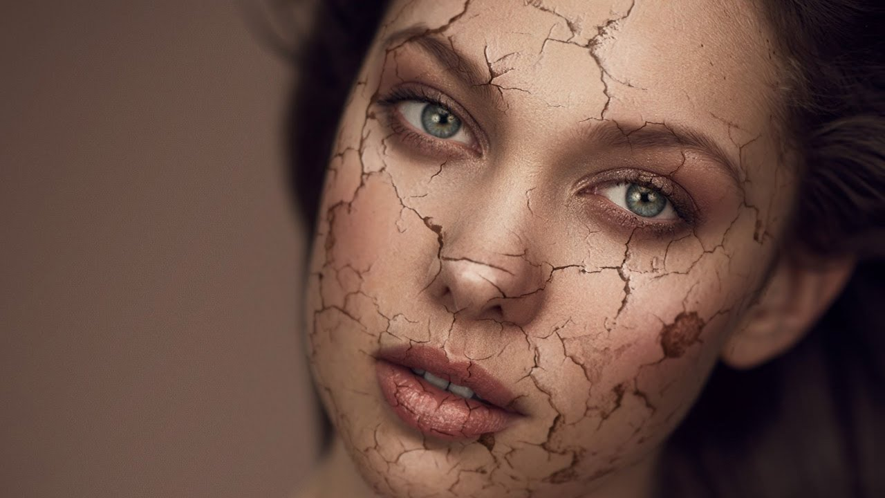 how to make cracks on face in photoshop