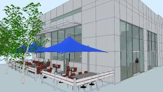 SketchUp 3D Animation of Restaurant Interior