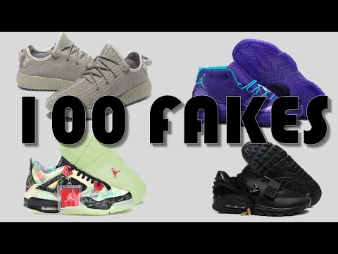 WE HIT GOLD!! 100 MORE FAKE SNEAKERS PT 2