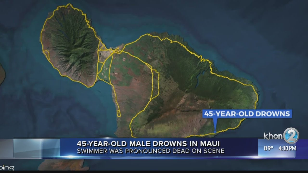 45-year-old male drowns in Maui