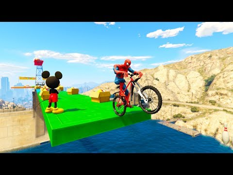 COLOR BIKES JUMP into the Water Superheroes cartoon fro kids and babies Nursery rhymes