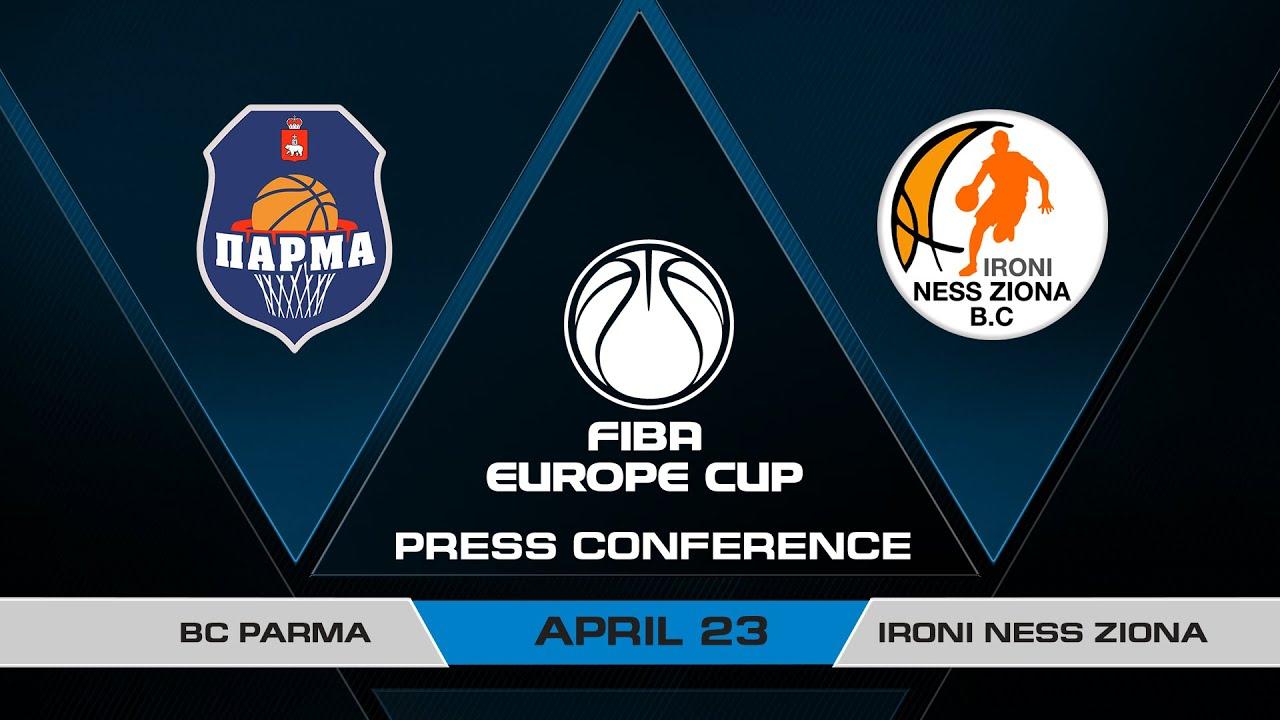 Press Conference - Semi-Finals: BC Parma v Ironi Ness Ziona | FIBA Europe Cup 2020