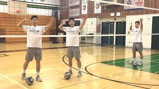 Middle Blocker Spiking FOOTWORK - How to SPIKE a Volleyball Tutorial