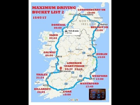 Motorcycle road trip solo ride around Ireland 1195km 16:44hr 1st long distance ride