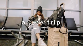 My Solo Trip  | February Vlog