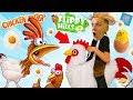 СУМАСШЕДШИЙ ЗАБЕГ КУРИЦЫ Смешная игра от ПАПЫ FFGTV Chicken Rider Видео для детей for Kids