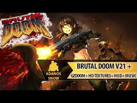Сборка Brutal Doom V21 Gold + GZDoom + Hd Textures + HUD + Music