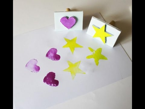 This Rubber Stamp DIY Will Turn Even The Littlest Kids Into Expert Crafters