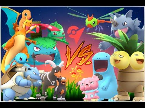 Pokémon GO Gym Battles Father's Day special Charizard Blastoise Venusaur Houndour & Kids