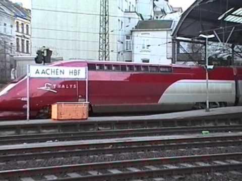 Euro Rails 77 - Thalys en andere treinen in Aachen Hbf