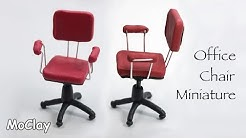 Miniature furniture. Office Chair - Polymer clay tutorial