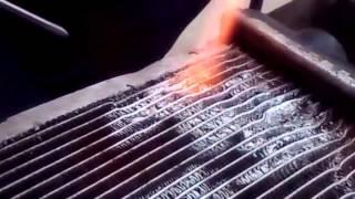 Ремонт радиатора. Пайка сот авторадиатора