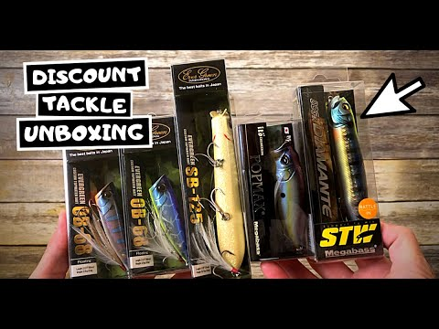 How To Save Money On JDM Fishing Lures (Evergreen, Megabass) - Discount Tackle Unboxing