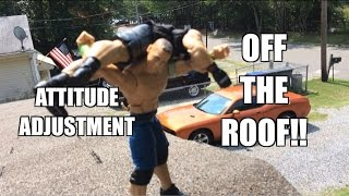 GTS WRESTLING: Roof Rampage! WWE Figure Matches Animation! Mattel Elites PPV Event!