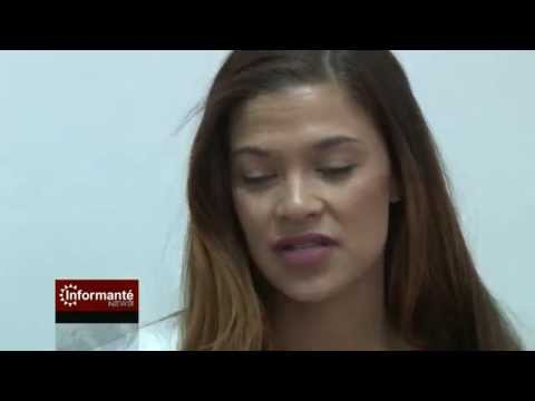 miss namibia 2015 visits informante - youtube