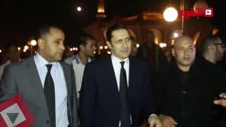 اتفرج| علاء مبارك في عزاء الساحر محمود عبد العزيز