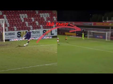 Newport Goalkeeper Tom King Scores Goal From OWN Net   GOALKEEPER BREAKS WORLD RECORD!
