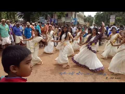 Flash mob-onam celebration-kidangoor-2016