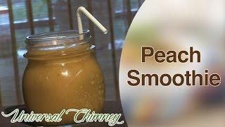 How To Make A Peach Smoothie By Smita || Universal Chimney