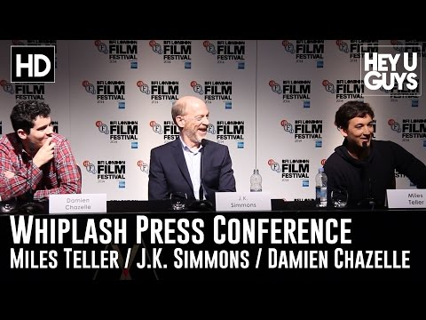 Whiplash Press Conference in Full - Miles Teller, J.K. Simmons & Damien Chazelle