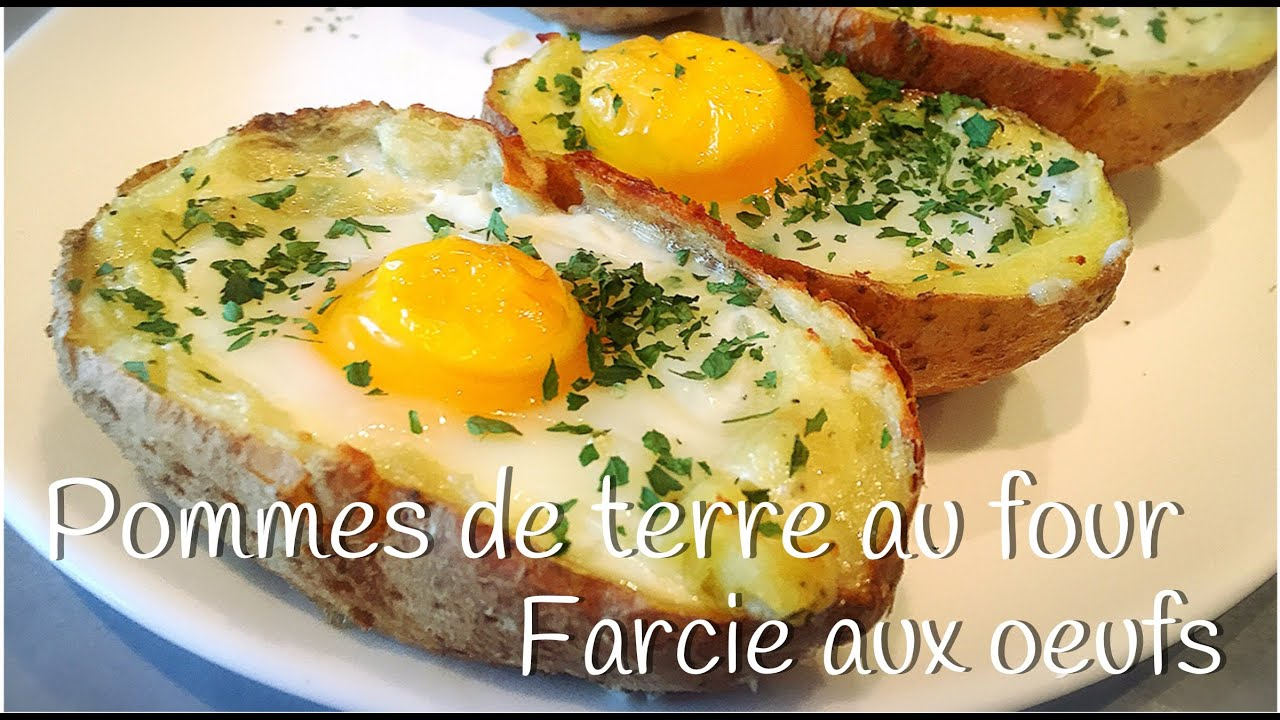 pommes de terre au four farcie aux oeufs youtube. Black Bedroom Furniture Sets. Home Design Ideas