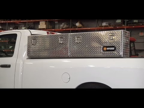 Northern Tool + Equipment Locking Aluminum Top-Mount Truck Box - 72in. X 12in. X 16in. Size, 2-Doors