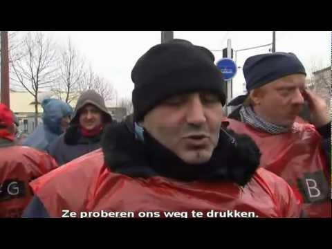 Vakbonden ArcelorMittal slaags met politie in Straatsburg