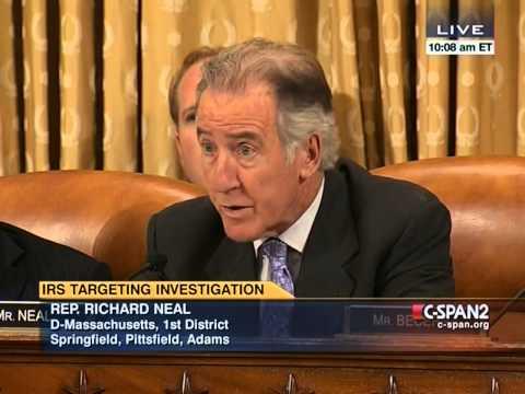 Rep Richard Neal at IRS Hearing 06-20-14