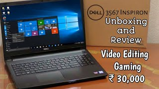 Dell Inspiron 3567 Laptop core i3 Processors 4 GB RAM Unboxing | Review | Hindi