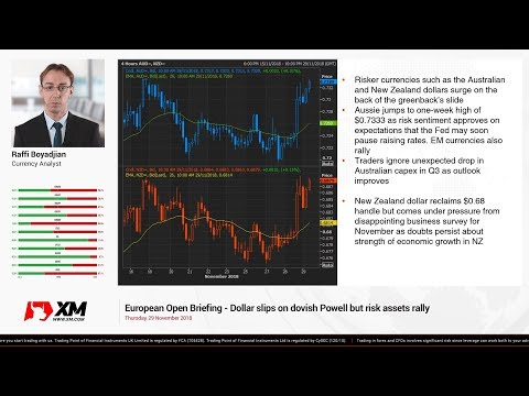 Forex News: 29/11/2018 - Dollar slips on dovish Powell but risk assets rally