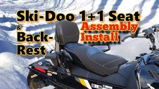Ski Doo 1+1 Complete Seat System ASSEMBLY & Install: Gen3 860200575