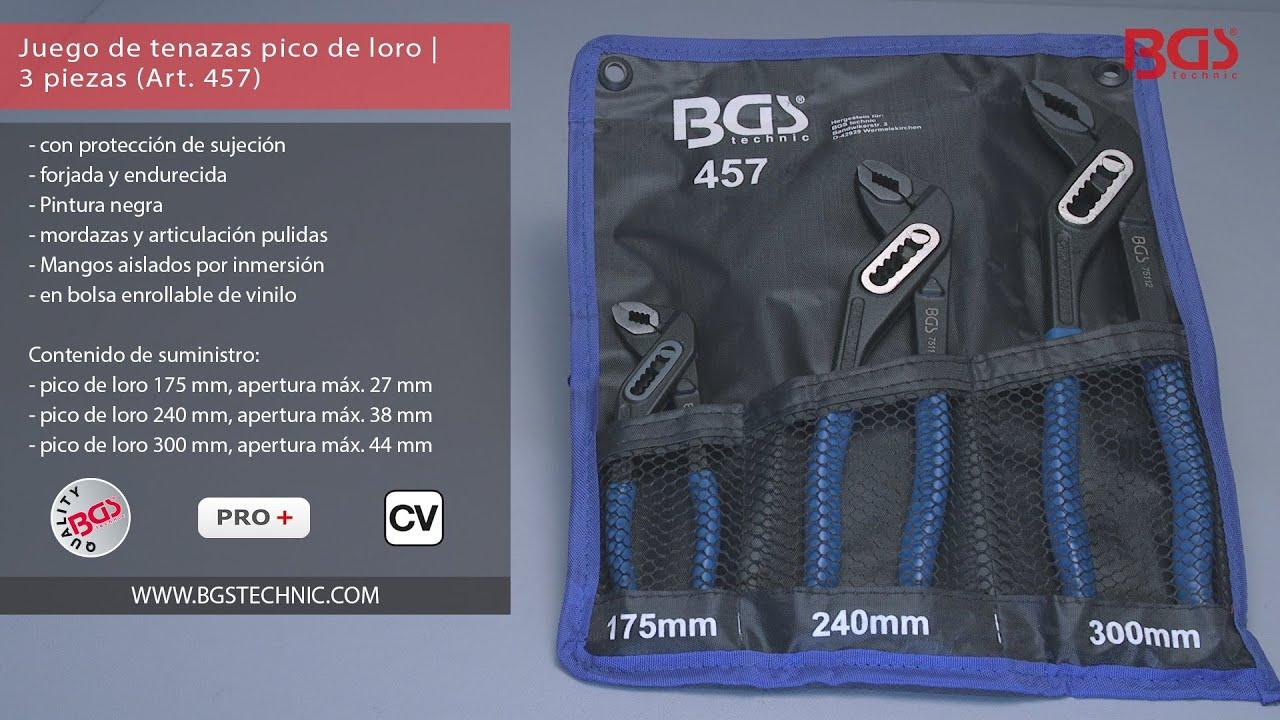 BGS 75112 Tenaza pico de loro con articulaci/ón pasante 300 mm
