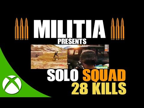 28 KILLS SOLO SQUAD PUBG XBOX ONE | PLAYERUNKNOWN'S BATTLEGROUNDS