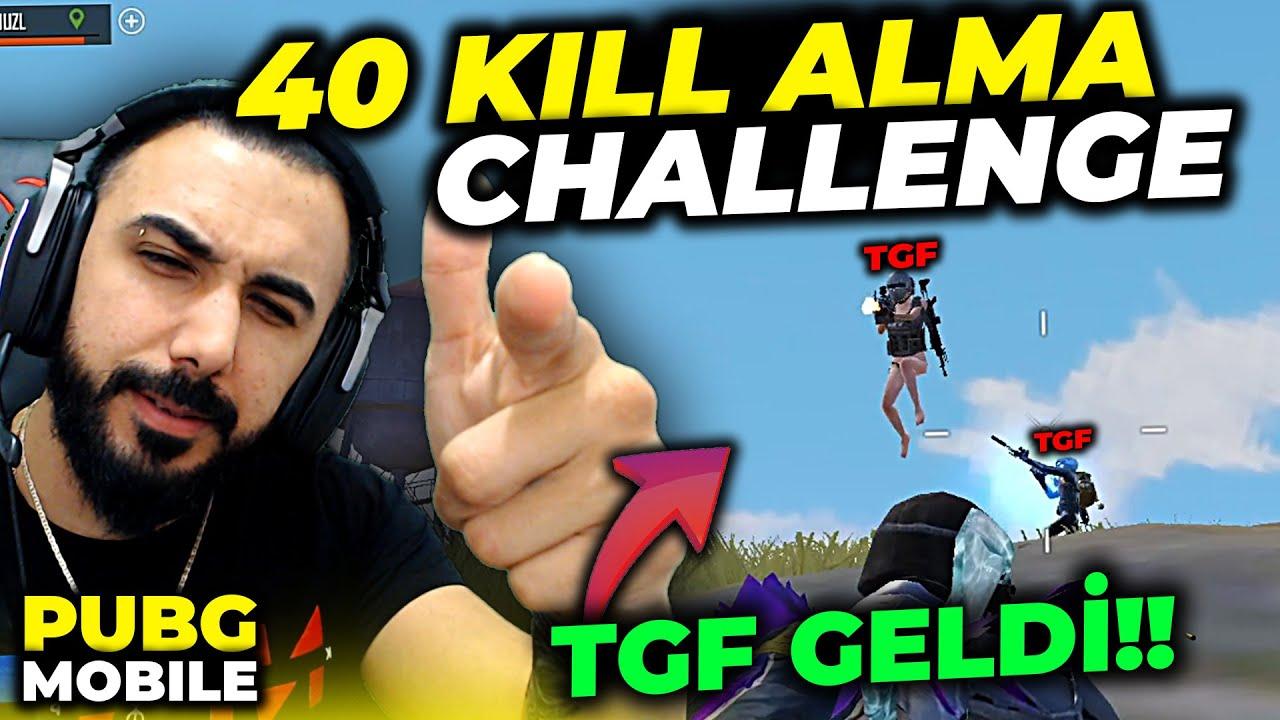 40 KILL ALMAK?! İMKANSIZ CHALLENGE!! (KARŞIYA TGF GELDİ!!) | PUBG MOBILE
